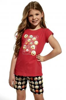 girls' pajama 787/64 Kids Emoticon
