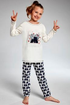 girls' pajama 975/94 Young two cats