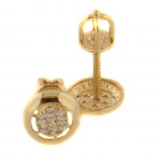 Golden earrings 54625