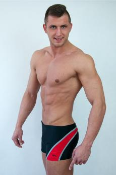 Men's swimsuits M1418 black-red