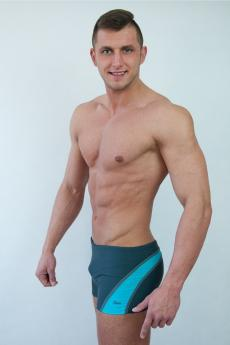 Men's swimsuits M1418 grey-turquoise
