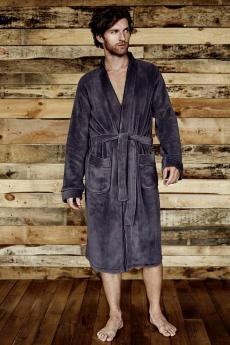 Men's bathrobe 34647 Beta 90x graphite