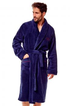Men's bathrobe 36377 Gama 59x blue