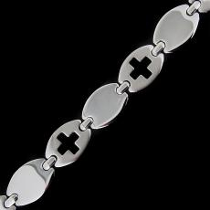 Steel necklace 15861