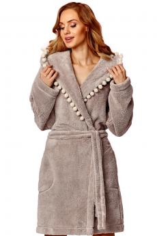 Woman bathrobe 8142 opal