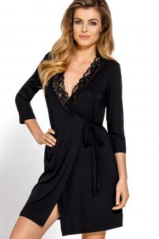 Woman bathrobe Bona black