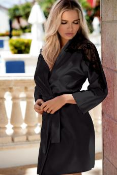 Woman bathrobe Marion black