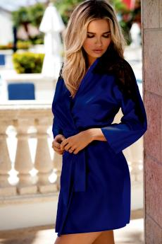 Woman bathrobe Marion dark blue