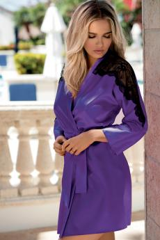 Woman bathrobe Marion dark violet