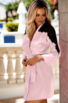 Woman bathrobe Marion light pink