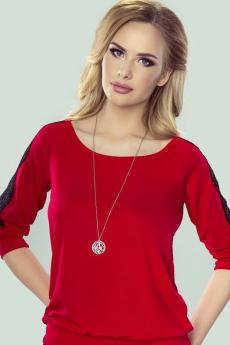 Woman blouse Fabia red-black