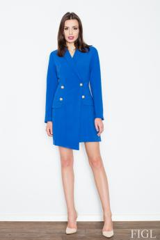 Woman coat M447 blue