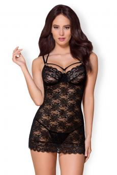 Woman erotic chemise 860-CHE black
