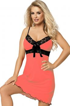 Woman luxury chemise Cassidy coral