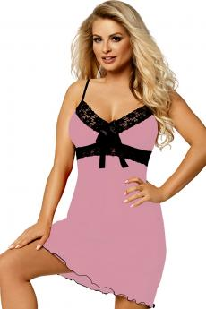 Woman luxury chemise Cassidy light pink