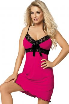 Woman luxury chemise Cassidy pink