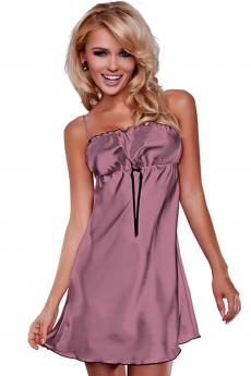 Woman luxury chemise Elwira light violet