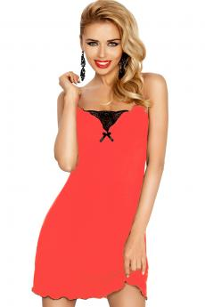 Woman luxury chemise Kalina coral