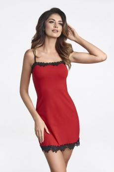 Woman luxury chemise Sisi red