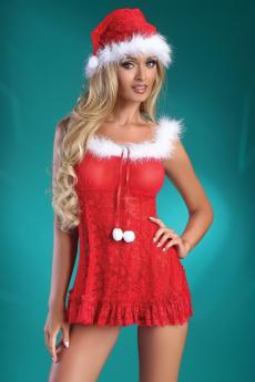 Woman sexy costume Christmas Bell