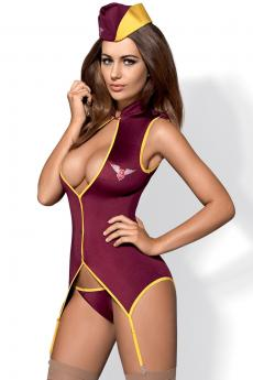 Woman sexy costume Stewardess suit