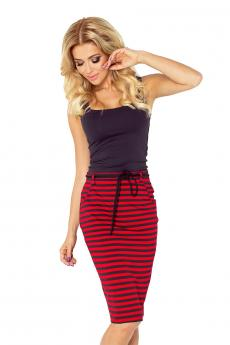 Woman skirt 127-1 red-black