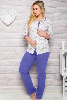 Women's plus size pajama 2126 blue