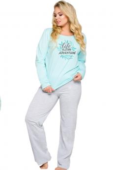 Women's plus size pajama 259 Sylwia blue