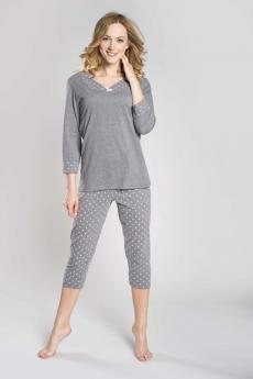 Women's plus size pajama Damia plus melange