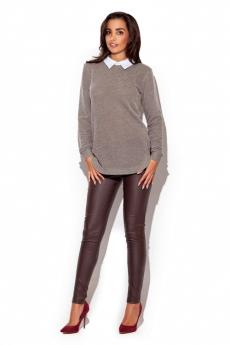 Women's sweater K226 brown
